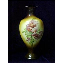 Vase - Warwick China, Browns with Red Flowers #2379923