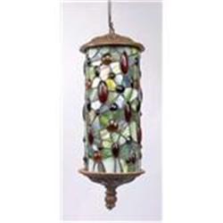 ART DECO HANGING LAMP W JEWELED DESIGN #2379954