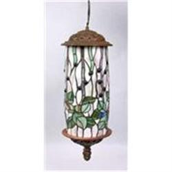 ART DECO HANGING LAMP W LEAF DESIGN / NEW #2379955
