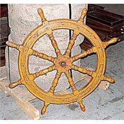 1920 1940 Authentic Wooden Ship's Wheel #2379956