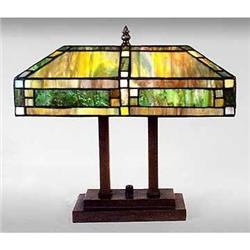 ART DECO GLASS TABLE LAMP / NEW ACCENT LIGHTING#2379957