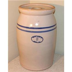 Vintage Marshall Pottery 5 Gallon Butter Churn #2379979