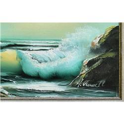 ORIG PAINTING SEASCAPE CRASHING WAVES #2379984