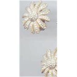 SALE Ciner  Star burst  Rhinestone Earrings #2379995