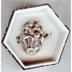 SALE Sterling Silver Flower Ring #2379997