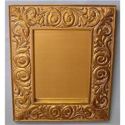 ORNATE CARVED WOOD ANTIQUE GOLD RECTANGULAR #2380004