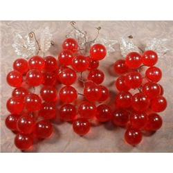 Red GRAPES LUCITE & Glass - VINTAGE - #2380057