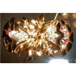CORO Duette ENAMELED Flowers PIN - VINTAGE - #2380061