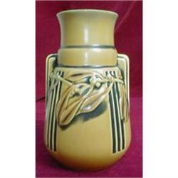 Roseville LAUREL Vase UnMarked YELLOW -Antique-#2380081