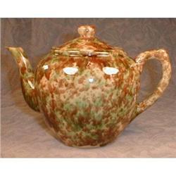 SPONGED Spatterware Teapot - ANTIQUE - #2380092