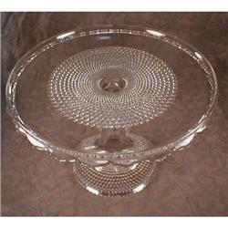 DEW DROP Pedestal CAKE  Plate EAPG - Antique #2380093