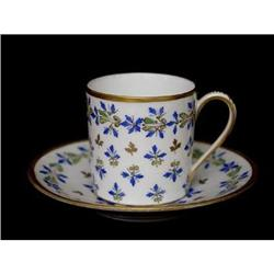 Porcelaine de Paris Demitasse and Saucer Set #2380173
