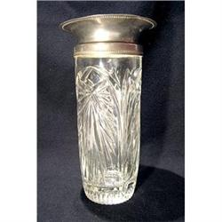 Pewter and Crystal Flower Vase #2380198