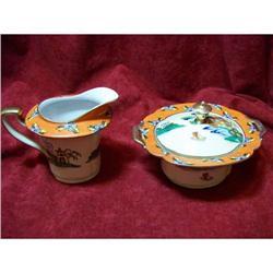 Vintage Noritake Hand Painted Cream & Sugar #2380199