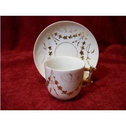 1800's  French Porcelain Demi Cup & Saucer #2380201