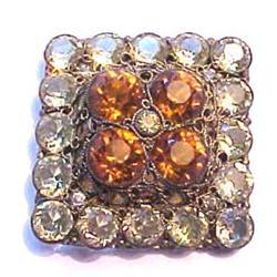 Signed Hobe crystal rhinestone pin #2380213
