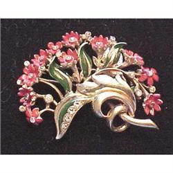 Ralph DeRosa floral spray fur clip #2380214