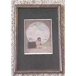 Framed Parrish bookplate  Pandora's Box   #2380215