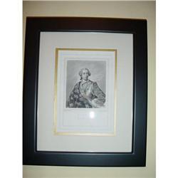 French engraving King Louis XV, Circa 1820 #2380227