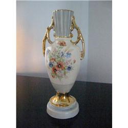 Porcelain Lamp base Gold Plated Floral Vintage!#2380241
