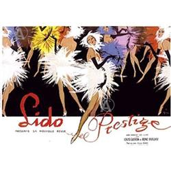 RARE COOL & SEXY RENE GRUAU LIDO LARGE FINE ART#2380247