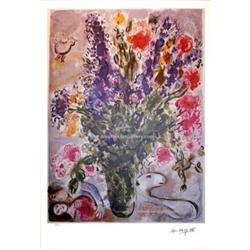 MARC CHAGALL EXQUISITE FLOWERS SIGNED S/N LITHO#2380253