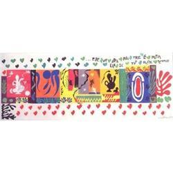 SPLENDID LARGE HENRI MATISSE MODERN ART SIGNED #2380255