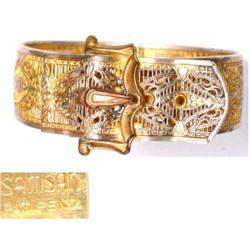 Vintage Signed Victorian BUCKLE bracelet #2380264