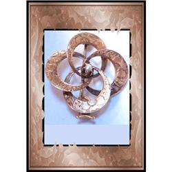 Antique Victorian 14kt rose GOLD Pearl brooch #2380265