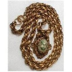 OLD DECO Egyptian REVIVAL Czech necklace #2380267