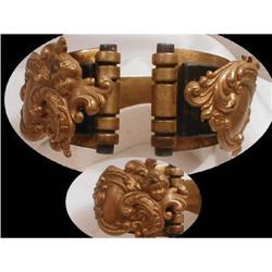 Early 1900 Victorian mourning  Cherub bracelet #2380268