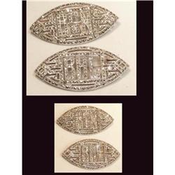 PAIR sterling marcasite DECO BRILLIANT Brooch #2380273
