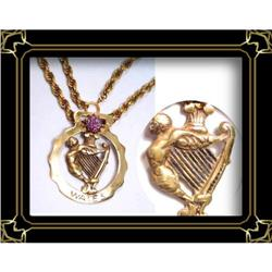 vintage Memento figurehead enamel necklace #2380279