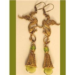 Romantic & Mystical LONG dragon  jewel earrings#2380283
