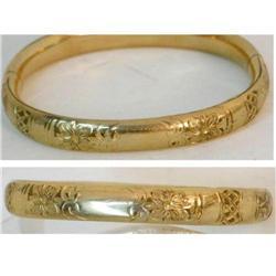 1900's VIctorian Hinged fancy floral bracelet #2380288