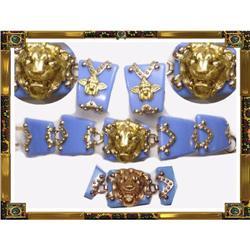 Vintage LION Cherub Gothic Bracelet & earrings #2380293