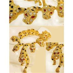 Dazzling 565 Rhinestone Figural Lion necklace  #2380294