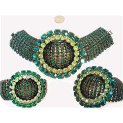 HUGE Hollywood GLAM 9 ROW Rhinestone Bracelet #2380295