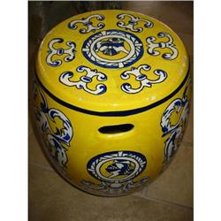 Spanish Garden Seat hand painted, signed! #2380298