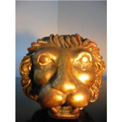 A Lion's head gilted decorative paperweight!  #2380300