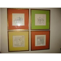Group of four etched religious art works!   #2380305