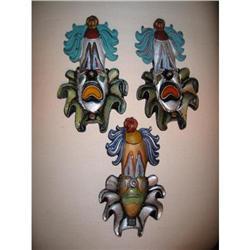 Three Decorative Clowns handpaint metal! #2380310