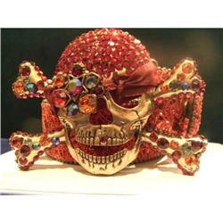 Swarovski Crystal Red & Bronze Pirate Belt #2380325