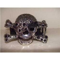 Black Pirate Swarovski Crystal Designer Belt #2380326