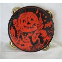 J. Chein Antique Halloween Tambourine-Made in #2380328