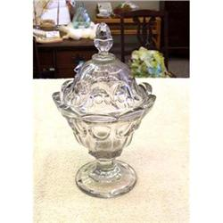 1840-60 EAPG LARGE COLONIAL COMPOTE WITH LID #2380330