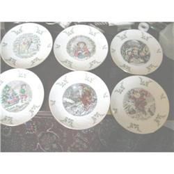 Set 6 Royal Doulton Christmas Plates 1977-82 #2380335