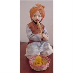 Doll Cloth India Snake Charmer and Snake #2380352