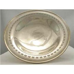 Large Sterling Bowl. Pierced and footed #2380353