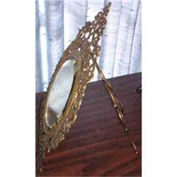Mirror. Victorian Brass. Standing #2380355